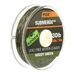 Leader tissé et non-lesté FOX Edges Submerge 10m 45lb Vert