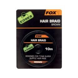 Tresse pour cheveux FOX Edges Brune 10m