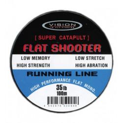 Runnig line VISION flat shooter 100m 35lb