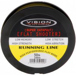 Runnig line VISION flat shooter 100m 50lb