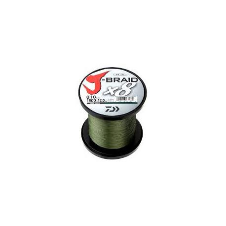 Tresse DAIWA J-Braid X8 1500m 0.18mm 12kg