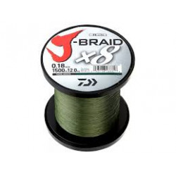 Tresse DAIWA J-Braid X8 1500m 0.24mm 18kg