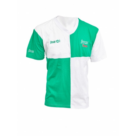 T-Shirt SENSAS Harlequin Vert - Blanc Taille L