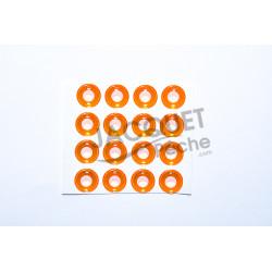 Yeux Epoxy 3D UV TOF Fluo Orange 10mm