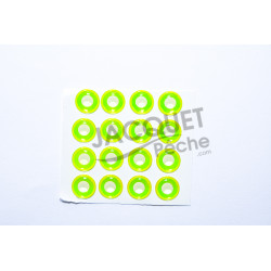 Yeux Epoxy 3D UV TOF Fluo Chartreuse 10mm