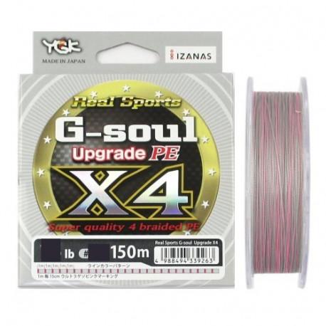 Tresse YGK WX4 G soul upgrade PE 0.8