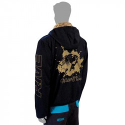 Sweat RIVE Hoodie zipper specimen noir custom - Taille L