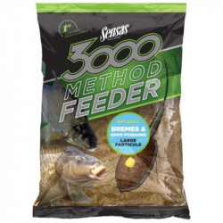 Amorce SENSAS 3000 Method feeder Brèmes et gros poissons en 1Kg