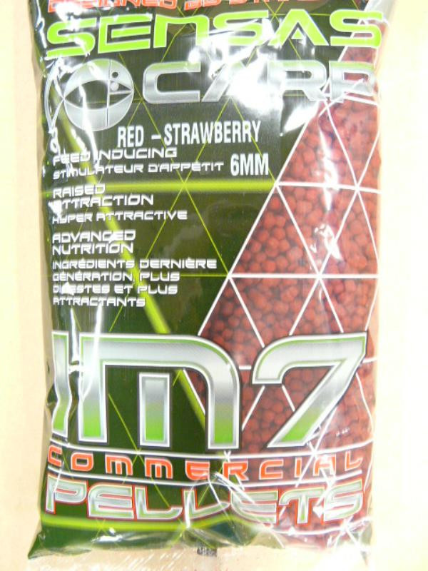 Sensas IM7 Pellets Red Strawberry 4mm