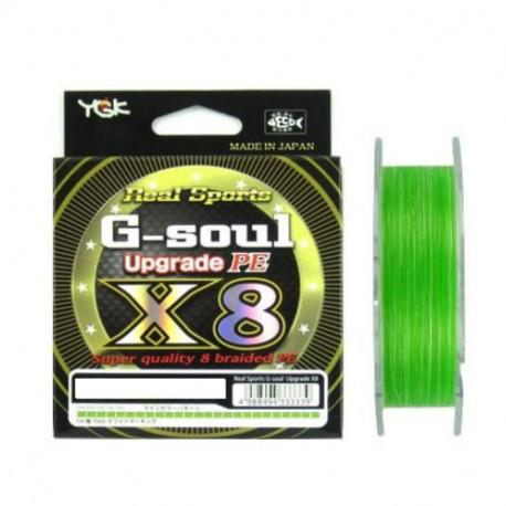 Tresse YGK (X BRAID) X8 G SOUL Upgrade PE0.8 16lbs 150m