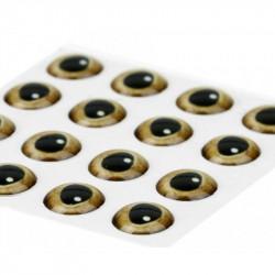Yeux Epoxy Traun River 3D Gold 15mm (21pcs)