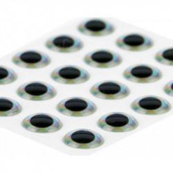 Yeux Epoxy Traun River 3D Siver 15mm (21pcs)