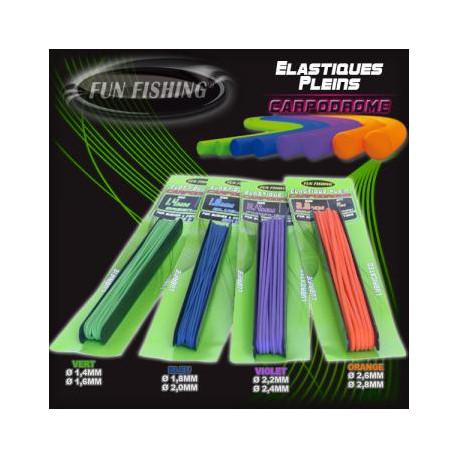 Elastique Plein 2,6mm FUN FISHING alciumpeche Orange 6m