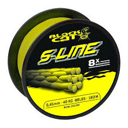 Tresse BLACK CAT S-Line 8X 0.45mm 50kg 180m