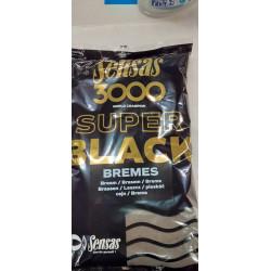 Amorce SENSAS 3000 Super black Brèmes - 1Kg