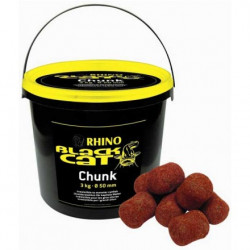 Pellets à silure BLACK CAT Chunks 50mm par 3kg