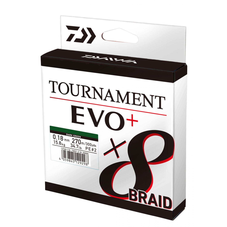 135m Daiwa TOURNAMENT 8 BRAID EVO Chartreuse Various sizes
