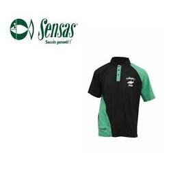 Polo SENSAS Gardon Noir-vert T-3XL